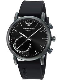 9ada9a7b2a72 Emporio Armani Reloj Analogico para Hombre de Cuarzo con Correa en Silicona  ART3016