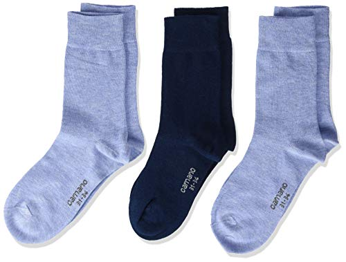 Camano Jungen Socken 3701, Blau (Ice Blue Melange 5240), 35-38, 3er Pack