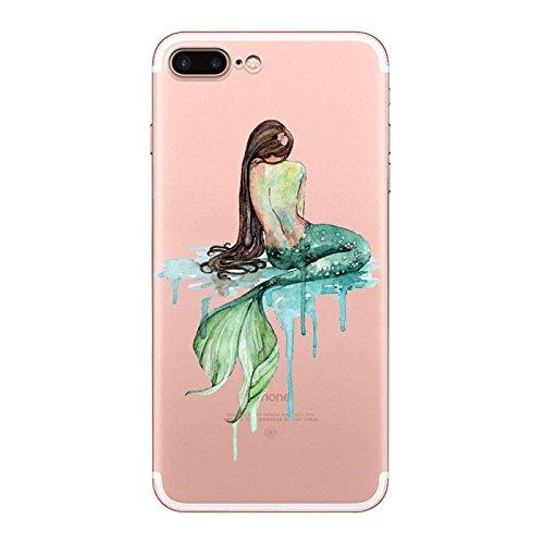 IPHONE 7plus Hülle Meerjungfrau Ananas Liebe Muster TPU Silikon Schutzhülle Handyhülle Case - Klar Transparent Durchsichtig Clear Case für iPhone 7 plus MRY3