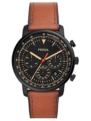 Fossil Reloj Cronógrafo para Hombre de Cuarzo con Correa en Cuero FS5501