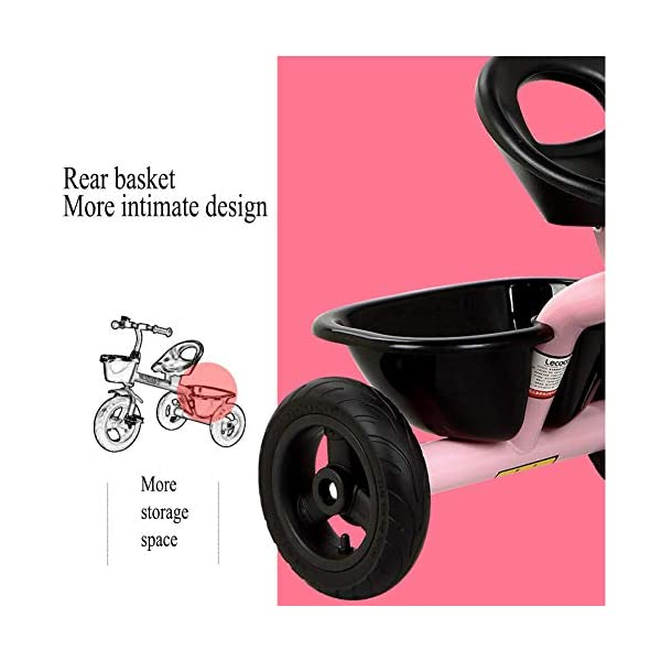 GSDZSY - Children Tricycle Kids First Bike, With Two Storage Baskets, Non-inflatable Rubber Wheels, With Bells,Safe And Reliable,2-5 Years Old,A GSDZSY  4