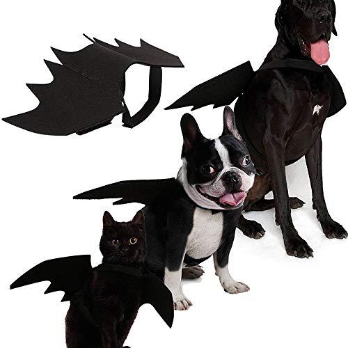 Kobwa ali di pipistrello costume per cane gatto, pet pipistrello vampiro, halloween cat costume per gatti cani ali di pipistrello gatto cane pipistrello costume ali