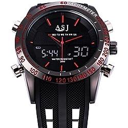 Beautiful Watches , ASJ Luxury Brand Digital Electronics Army Military Sport Watch Multifunctional Orologio Waterproof Gift