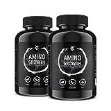 AMINO GROWTH 150-450 Tabletten (Vegan)   Hochdosiert mit 5000 mg/Portion   Aminosäuren Komplex mit Maca & Vitamin B6   zum Muskelaufbau, Straffung, Diät & Leistungssteigerung (300 Tabletten)