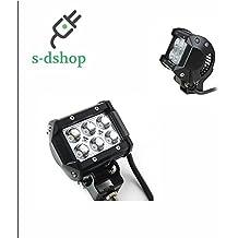S-D SHOP - FARO LAMPADA SUPPLEMENTARE PROFONDITA AUTO FUORISTRADA 12V 6 LED 18W 6000K IP68