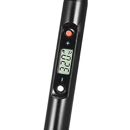 KKmoon Profesional 80W soldador, LCD Digital Temperatura ajustable Soldador Eléctrico Herramienta sin plomo Mini estación de soldadura AC220V