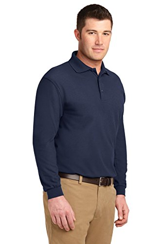Silk Touch Long Sleeve Sport Shirt Navy