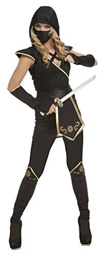 My Other Me - Disfraz de ninja para mujer, color negro, M-L (Viving Costumes 204896)
