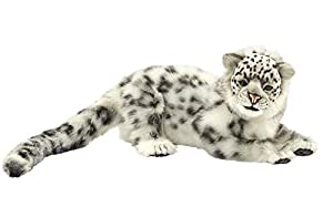 Hansa-Peluche Leopardo de Las Nieves Tumbado 50CML