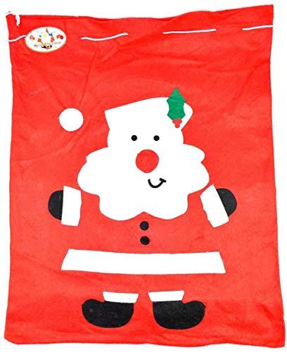Shatchi SANTA-SACK-50X60-3521-2PK - Saco de Papá Noel (2 unidades, tamaño grande), color rojo