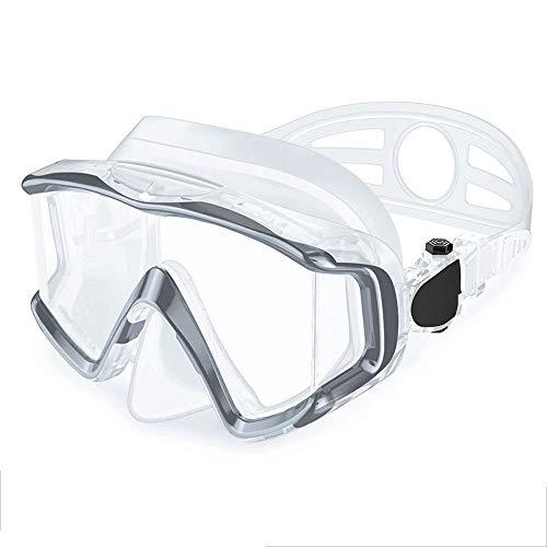 Szblk Schutzbrille Antibeschlag Auslaufsicher wasserdichte Brille UV-Schutz Schwimmbrille 400 Schutz Transparente Linse HD-Schwimmbrille Geeignet zum Tauchen Schwimmen (Color : Clear)