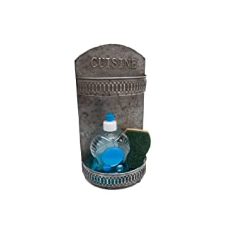 Französische Vintage Flüssigseifenhalter und Schwammablage
