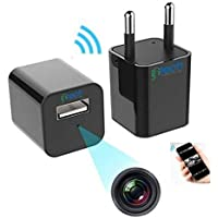 IFITech- 1080p HD Hidden Wifi Camera, Plug USB Mobile Charger with SD Card Support (not included)