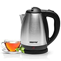 Geepas 1400W Electric Kettle | Safety Lock, Boil Dry Protection & Auto Shut Off Feature | Heats up Quickly & Easily | Boiler for Hot Water & Tea, Coffee Maker | 1.8L