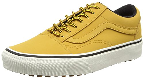 Vans Old Skool Mte Unisex-Erwachsene Low-Top Black (Mte - Honey/Leather)