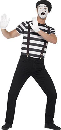 Smiffys 24596M - Herren Pantomime Kostüm, Größe: M, schwarz