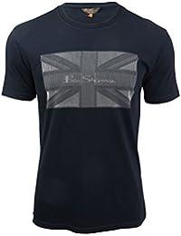 Ben Sherman - T-shirt - Manches Courtes - Homme bleu bleu Taille Unique