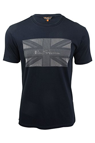 ben-sherman-camiseta-manga-corta-para-hombre-azul-navy-blazer-medium