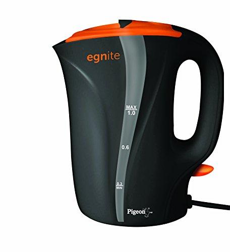 Pigeon Egnite EG1000 1-Litre Electric Kettle (Black/Orange)