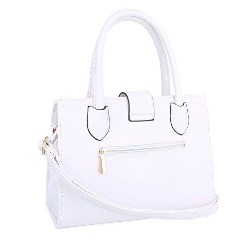 Ital-Design, Borsa a spalla donna Bianco