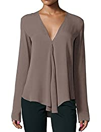 buy online 44840 903ea Amazon.it: camicia righe bianche nere - Unica / Bluse e ...