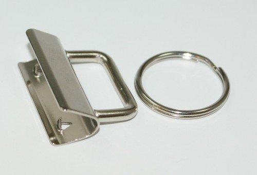 Preisvergleich Produktbild Rohlinge / Klemmschließe für Schlüsselanhänger, für 30mm breites Gurtband - Neues Model - 10 Stück *NEU*