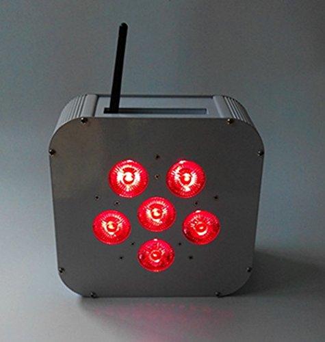 10PCS 6 * 10W 4-in-1 RGBW LED Flat Par Bühne Licht / Disco-Licht mit 10 n 1 Fall(alle 4 Licht verteilen 1 Satz Adapter) Flat-adapter