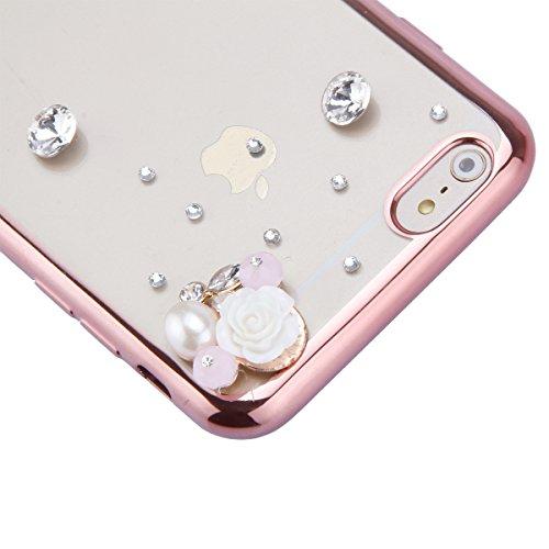 iPhone 6 Hülle,iPhone 6s Case,iPhone 6 Bling Case - Felfy Ultradünne Transparent Gel TPU Silikon Diamond Skin Bling Glitte Kristall Schutzfolie Glitzer Silber Silikon Crystal Case Durchsichtig Schutzh C19