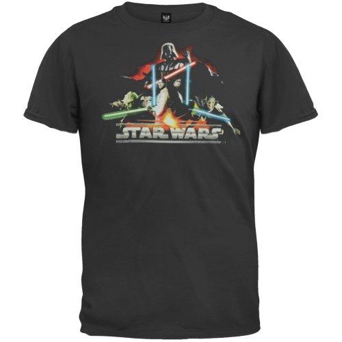 Old Glory Star Wars–Darth Vader Fire Glow Youth Jungen T-Shirt Gr. Jugend XL, Schwarz (Glow Youth-t-shirt)