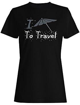 Nuevo I Love Travel Umbrella camiseta de las mujeres l752f