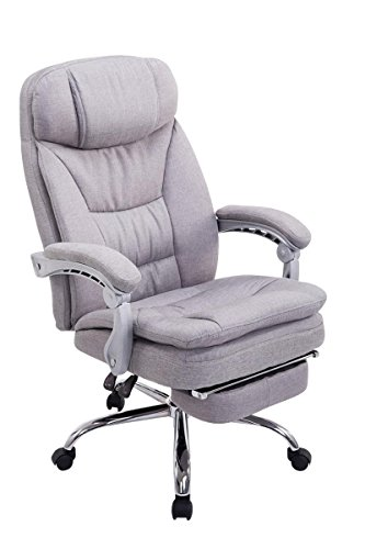 Swivel desk chair, Manager Boss office chair, High Back Executive Fabric Chair Recliner, Extra Padded Computer Chair Heavy duty ergonomic office chair Multi-Function Mechanism / gray eMarkooz