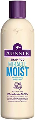 Aussie Miracle Moist Shampoo For Dry, Really Thirsty Hair, 300ml