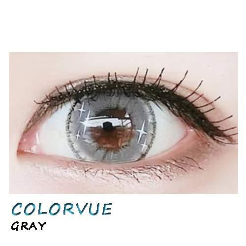 weiche Farblinsen Kontaktlinsen farbig + Behälter 1 Paar (2 Stück) ohne Stärke I 0.00 Dioptrien COLORVUE GRAY