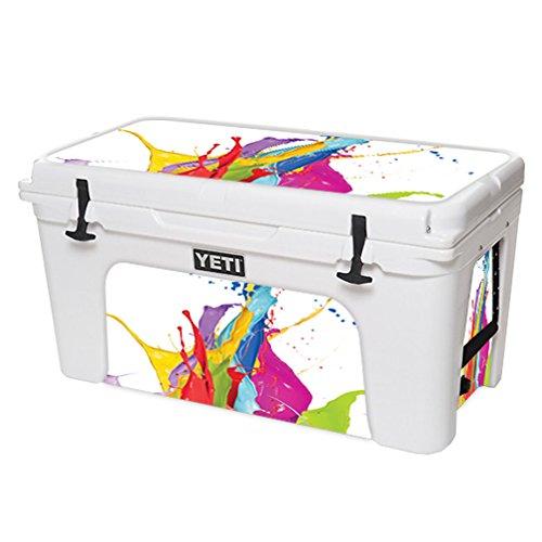 MightySkins Schutzfolie für YETI Tundra 75 qt Cooler Wrap Cover Sticker Skins Circus Splash Cover Pink Splash