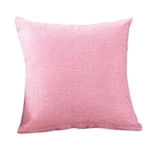kissenbezug kissenh lle 30x50 cm 45x45 cm 50x50 cm ronamick reine farbe leinen kissenbezug. Black Bedroom Furniture Sets. Home Design Ideas