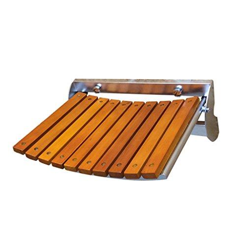 MyAou-Shower Chair Duschstuhl Holz Klappstuhl Edelstahl Duschstuhl Schuh Bank Wandstuhl (Größe : 32cm)