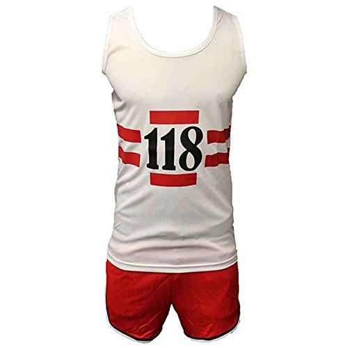 Lustig Jahre Kostüm 1980er - 118 118 Lustig 1980er Jahre Laufen Marathon Retro Kostüm Weste & Shorts Kostüm