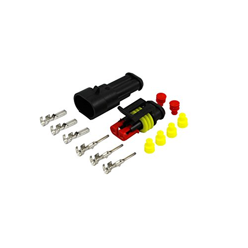 Amp Wire (AK-Parts AMP Superseal Kfz Nfz Stecker Set 2 Polig 0,75-1,50 mm² Gelb Wasserdicht)