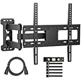 PERLESMITH PERLESMITH TV Wall Mount Bracket Full Motion Single Articulating Arm for Most
