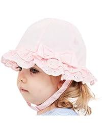 b47d2968545e9 Moneycom Casquette Hat Soleil Protection Voyage Anti UV bob Mignon Plage  Casquette de Plage Enfants Bowknot