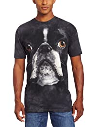 The Mountain Men's Boston Terrier Face T-Shirt