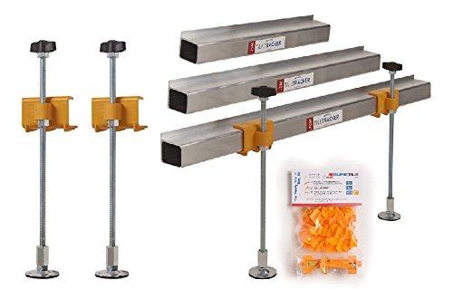 'DIY especial de batten Set + 50x 2mm Kit para alicatado Deal-0.75m 5m 10m longitudes Batten/4patas de aluminio con abrazadera + una pieza ajustador y un multiherramienta
