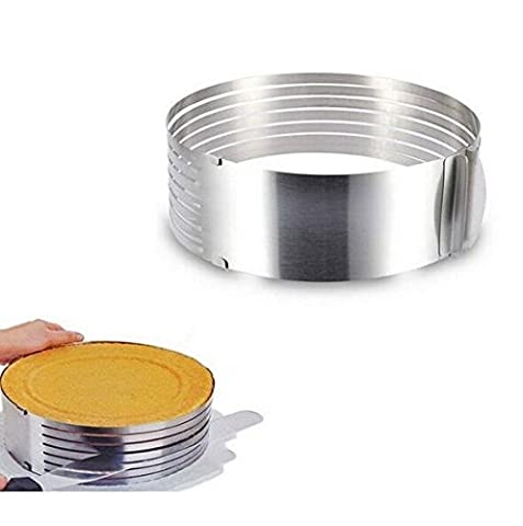 JOYOOO Cooking Cake Tools Metal Circle Adjustable Stainless Steel Mousse