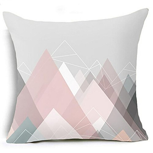 Kissenbezug 45 x 45 cm Geometrische Kissen Fall Taille Kissenbezug Sofa Home Decor kopfkissenbezüge LuckyGirls (I)