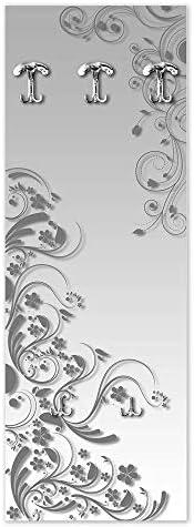 Lupia Appendiabiti da Parete 49X139 cm Modern Flowers Grey