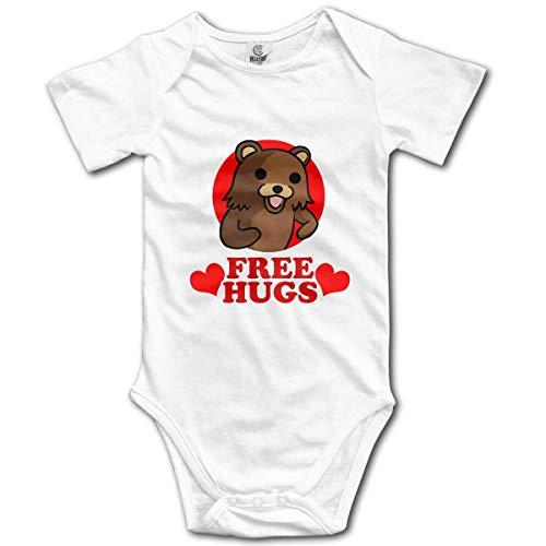 Klotr Unisex Baby Body Kurzarm Bear Hugs Newborn Bodysuits Baumwolle Strampler Outfit Set (Outfit Care Bear)