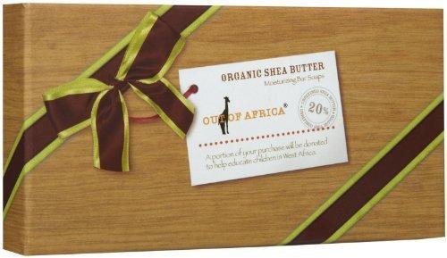 Out Of Africa - Organic Shea Butter Moisturizing Bar Soaps Gift Set - 3 Bars (Bar Soap Gift Set)