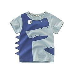 Idea Regalo - Topgrowth Magliette Divertenti Bambino Cartone Animato Bimbo T-Shirt Maglietta Bambino Manica Corta Felpa Ragazzo Casual Camicia Top