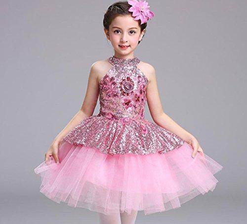 HUOFEINIAO Prinzessin Rock Flauschigen Rock Tanz Kostüm Kinder Chor Blume Fee Gruppe Modern Dance Jazz - Jazz Gruppe Tanz Kostüm
