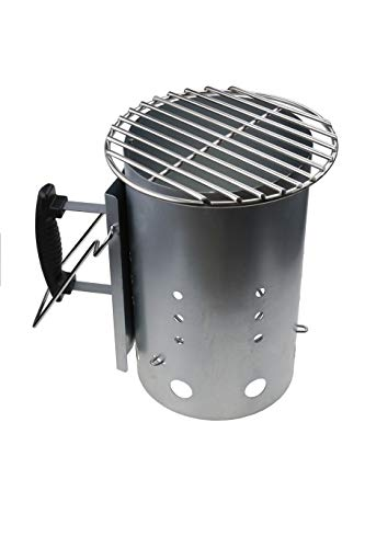 GFTIME Chimney Starter + Stainless Steel Mini Grid DIA 22.86CM